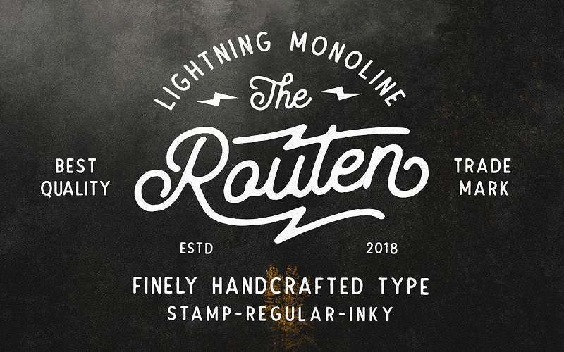 routen-lightning-monoline-font1