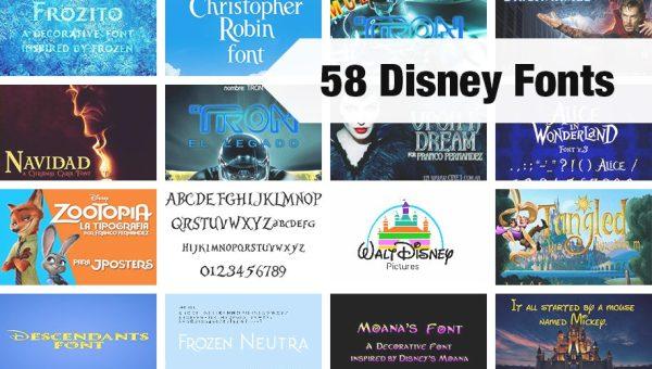 58 Free Disney Fonts of 2018