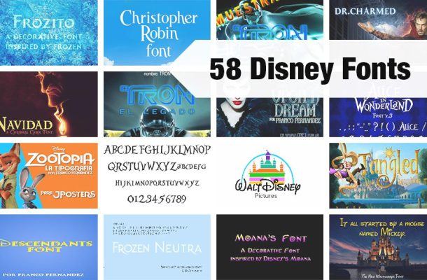 58 Free Disney Fonts of 2018