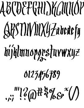 Arrr Matey BB font 2
