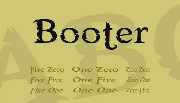 Booter font