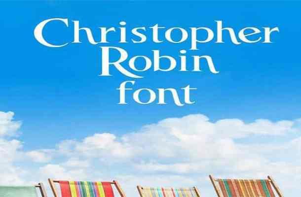 Christopher Robin font