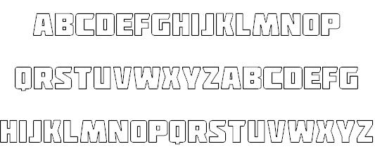 Deadpool Outline font - Dafont Free