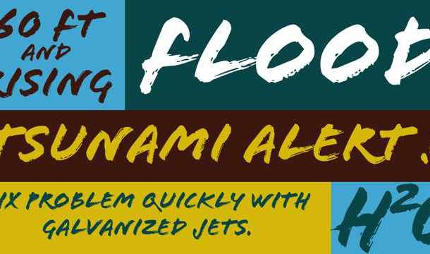 Flood font