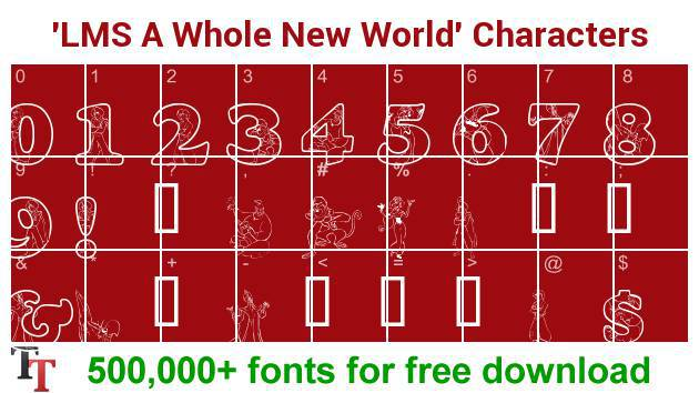 LMS A Whole New World font