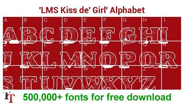 LMS Kiss de' Girl font