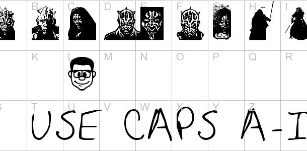 Maulbats font