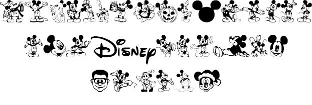 Mickey Mousebats font 2