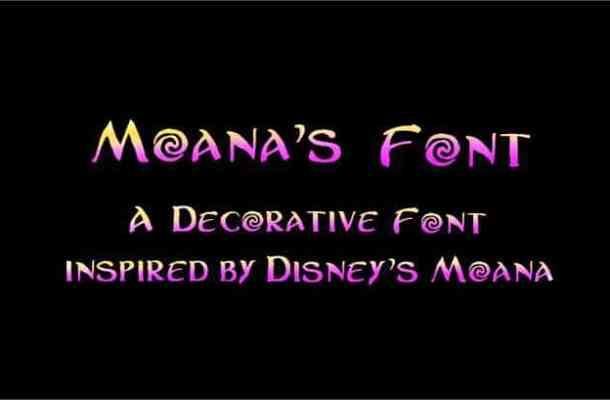 Moanas font