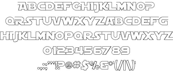 SF Distant Galaxy font 2