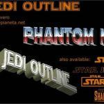Star Jedi Outline font