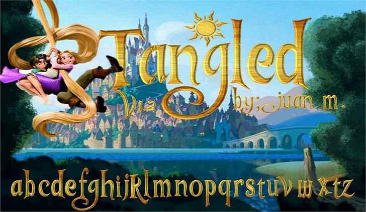 Tangled-v1.2-font
