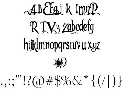 Tangled v1.2 font 2