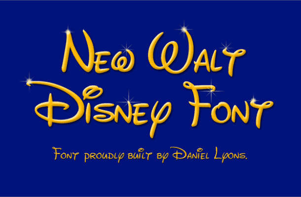 New Waltograph font