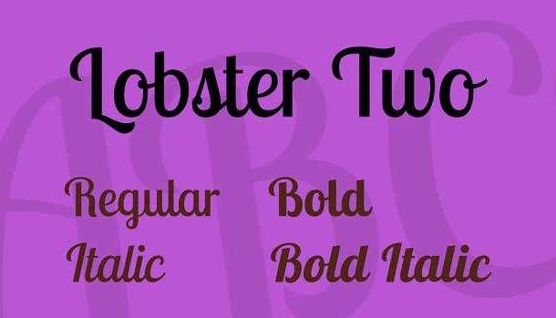 lobster-two-font-1-big