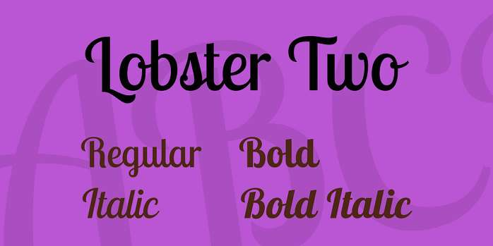 Lobster Two Font - Dafont Free
