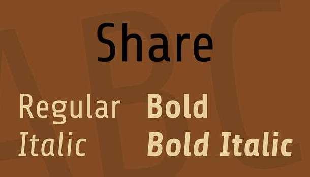 Share Font