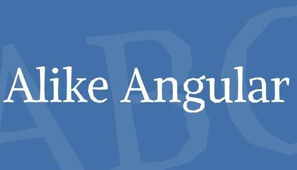Alike Angular Font