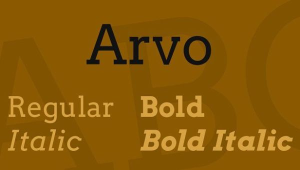 Arvo Font