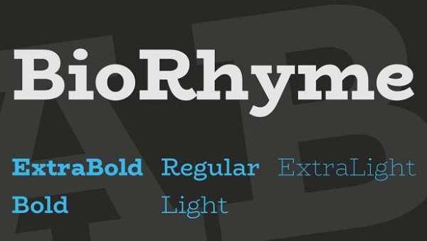 BioRhyme Font