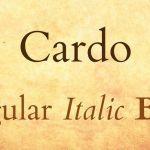 Cardo Font