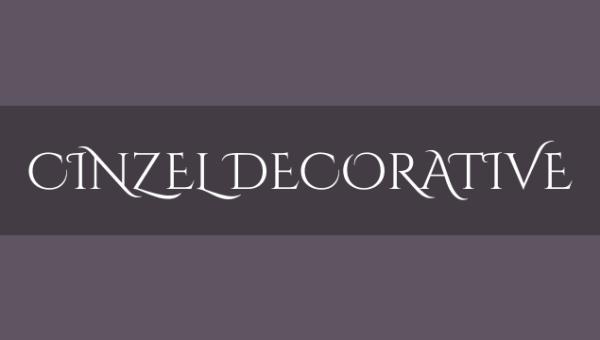 Cinzel Decorative Font Family