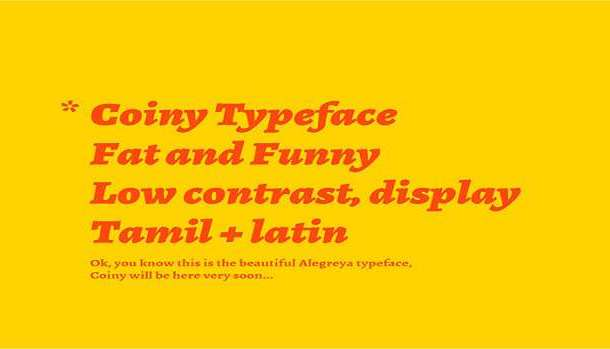 Coiny Font