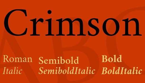 Crimson Text Font