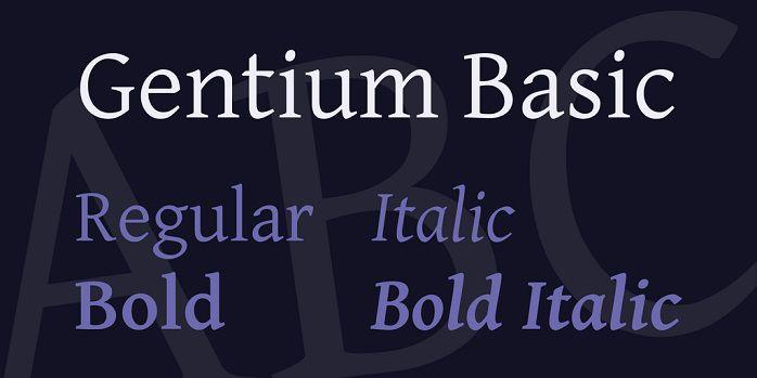 Gentium Basic