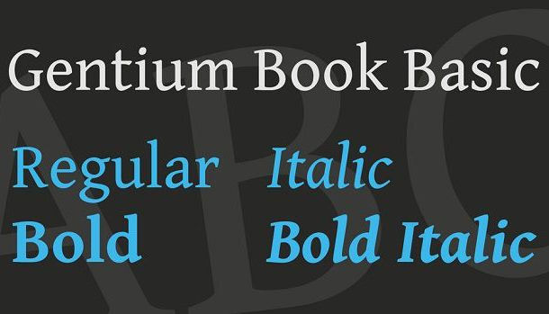 Gentium Book Basic Font