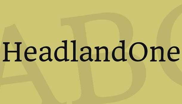 Headland One Font