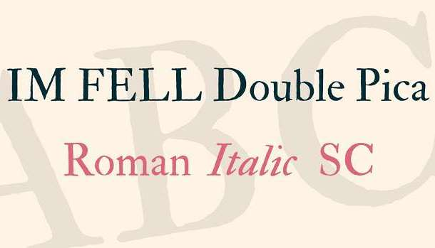 IM Fell Double Pica Font