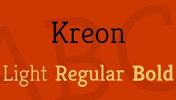 Kreon Font