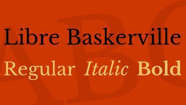 Libre Baskerville Font