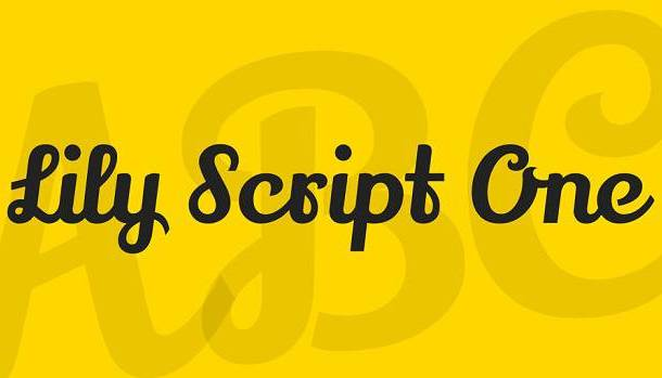 Lily Script One Font