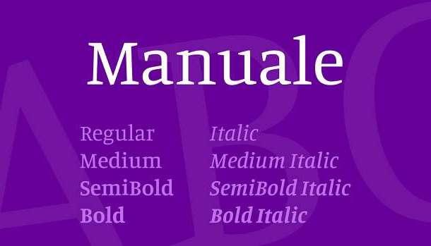 Manuale Font