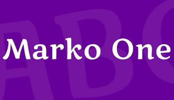 Marko One Font