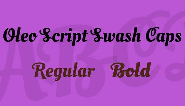 Oleo Script Swash Caps Font Family