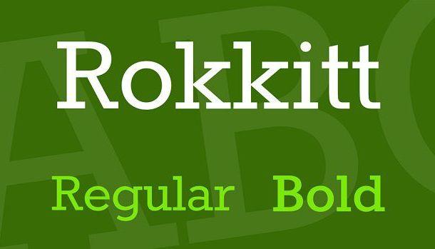 Rokkitt Slab Serif Font Family