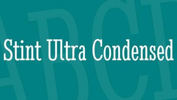 Stint Ultra Condensed Font