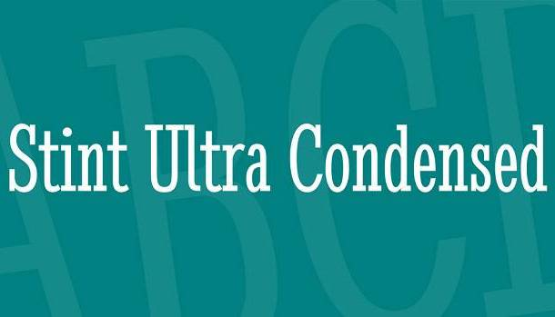 Stint Ultra Condensed Font