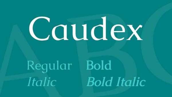 Caudex Font