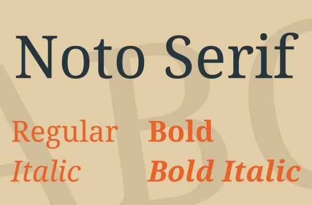 Noto Serif Font Family