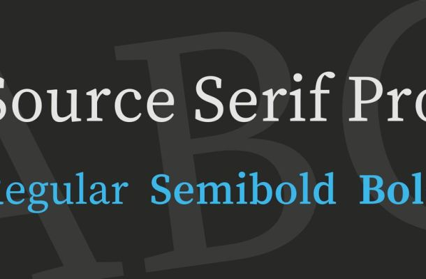Source Serif Pro Font Family