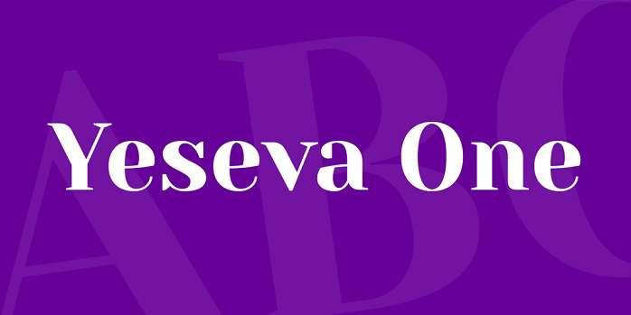 yeseva-one-font
