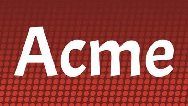 Acme Font