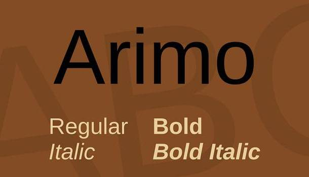 Arimo Font Family