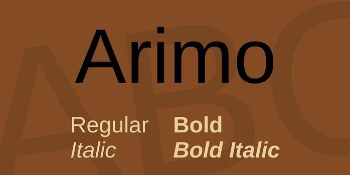 Arimo Font Family