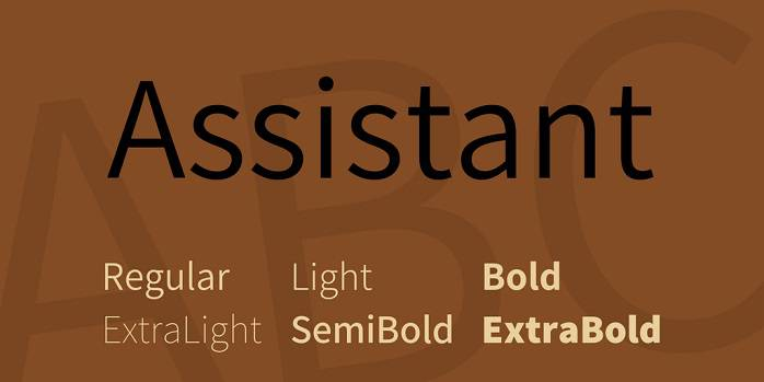 Assistant Font Family - Dafont Free