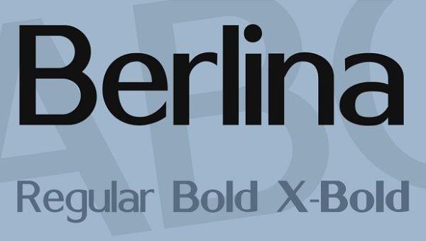 Berlina Font Family